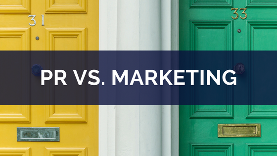 PR vs. marketing