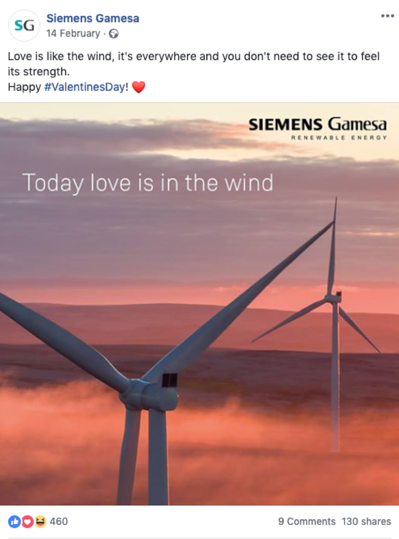 Siemens Gamesa Facebook post