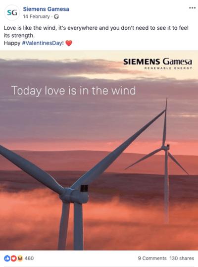 Siemens Gamesa Facebook post