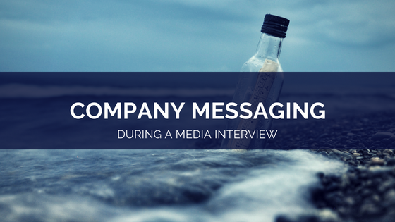 company messaging in an interview