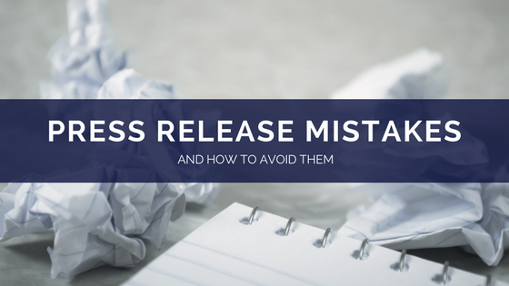 press release mistakes