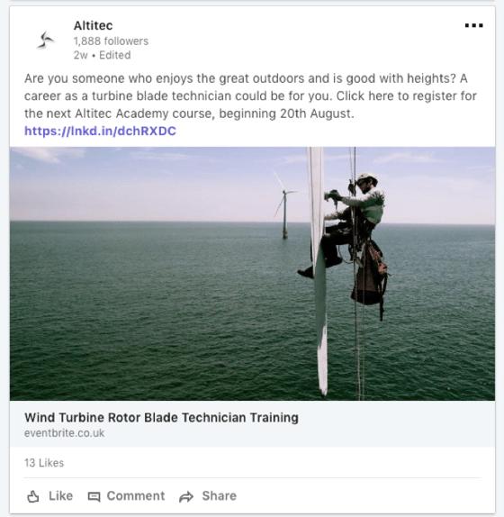LinkedIn example from Altitec